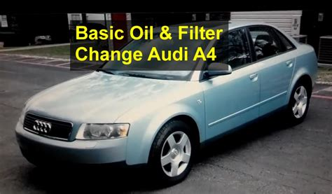 automobile air conditioning service 2005 audi s4 free book repair manuals basic oil and filter change for the audi a4 auto repair series youtube
