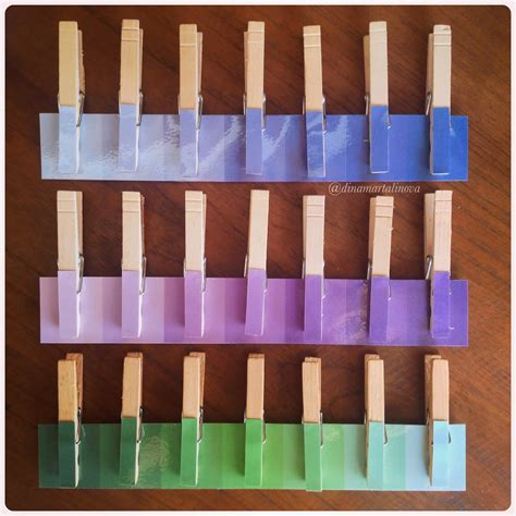 Jepitan Kayu Color raising a montessorian wooden pegs activities