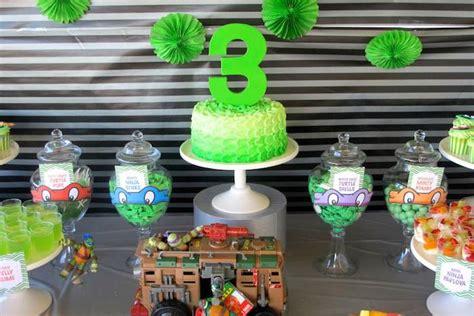 ninja turtle themed birthday party kara s party ideas teenage mutant ninja turtles themed