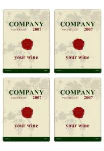 wine label templates wine label templates images