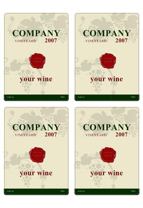 Make Your Own Wine Labels Free Templates wine label templates images