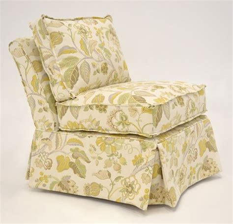 armless slipper chair slipcovers quatrine custom furniture harlow chair slipcovered in