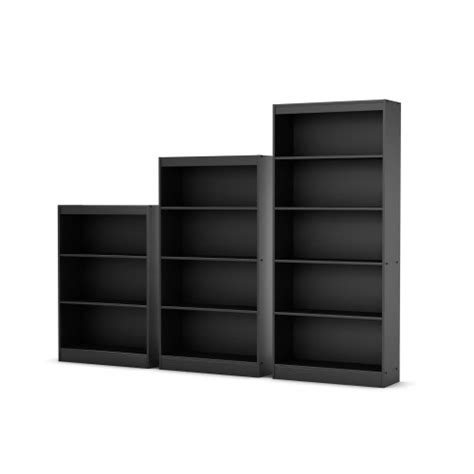 Black 5 Shelf Bookcase by South Shore Axess Collection 5 Shelf Bookcase Black