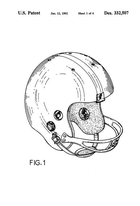 helmet design patents patent usd332507 football helmet with radio equipment