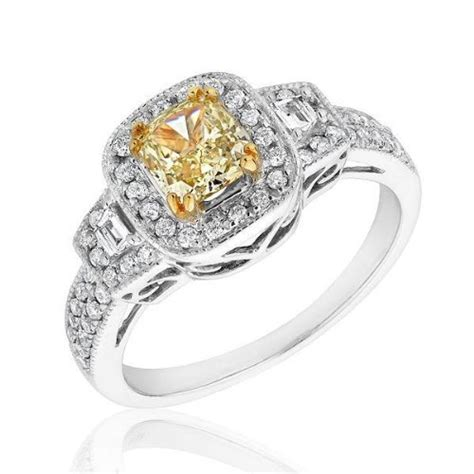 canary yellow engagement rings prices