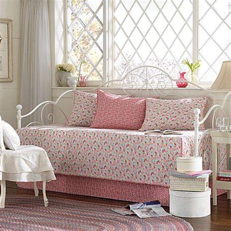 laura ashley carlie pink daybed bedding set bed bath