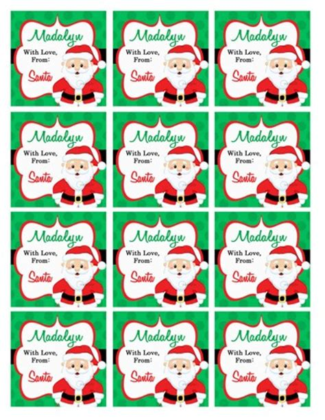 Large Printable Gift Tags From Santa | from santa claus gift tags search results calendar 2015