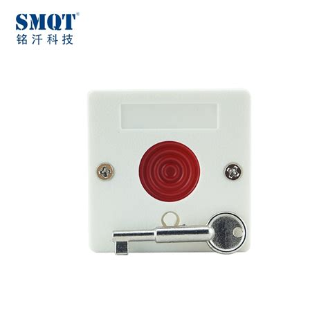 fireproof abs push button key reset switch panic button