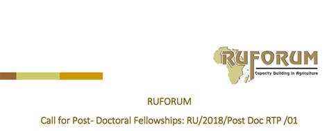 Post Mba Fellowships by Regional Universities Forum For Capacity Building In