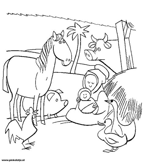 coloring pages nativity animals cbs de rank toldijk deranktoldijk yurls net