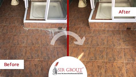 bathroom tile cleaning service deep water stains completely disappeared from this farrer