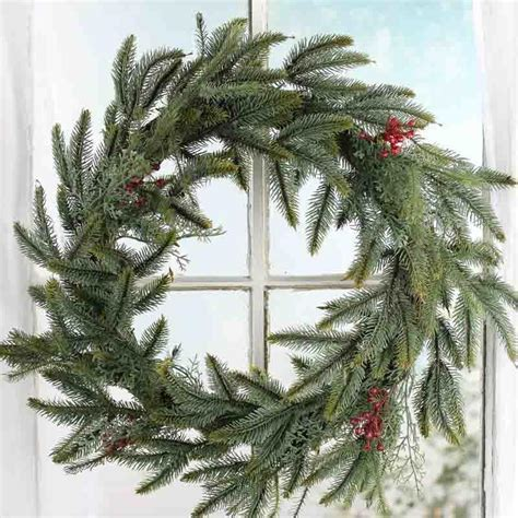 artificial pine and berry wreath on sale holiday crafts