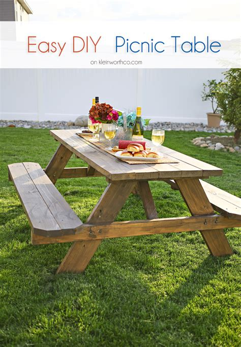 diy picnic bench easy diy picnic table bigdiyideas com
