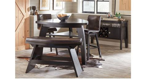 noah dining room set noah chocolate brown 4 pc bar height dining room w
