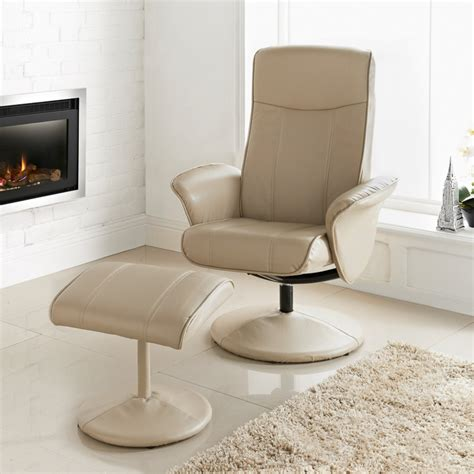 Childrens Leather Chair And Footstool B Amp M Malta Recliner Latte Chairs Furniture Cheap