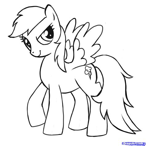 simple my little pony coloring pages mlp printable coloring pages how to draw rainbow dash