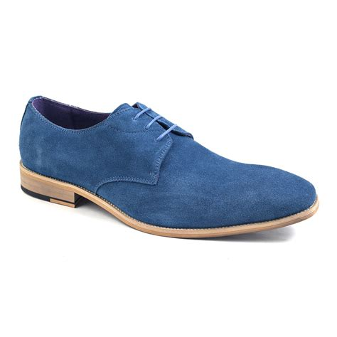 blue suede shoes shop mens blue suede derby gucinari style