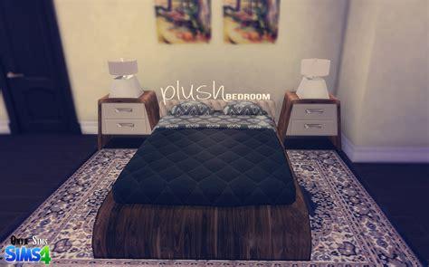 Cc Set Onyx Ts4 Plush Bedroom Set Onyx Sims Sims 4 Custom
