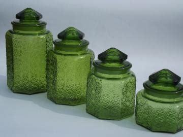 kitchen canisters green retro kitchen canisters