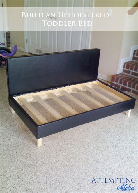 Diy Sofa Bed Attempting Aloha Diy Upholstered Toddler Bed Plans