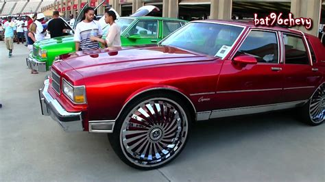 Candy Red Box Chevy Ls Squatting On 28 Quot Dub Swyrl Floaters