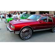 Candy Red Box Chevy LS SQUATTING On 28 DUB Swyrl Floaters