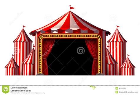 circus tent curtains circus stage stock illustration image 42709731