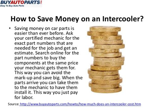 how much should you have saved before buying a house how much does an intercooler cost