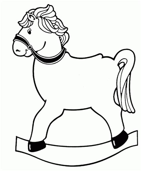 coloring pages of rocking horses rocking free printable coloring pages