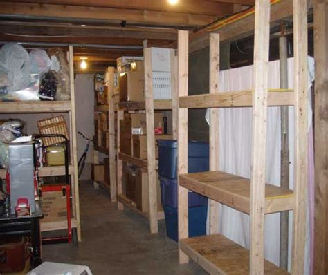 cheap easy to build storage shelves