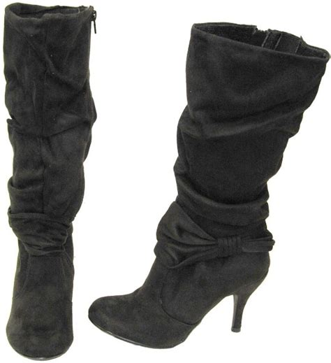 faux suede slouch boots clothes and shoes