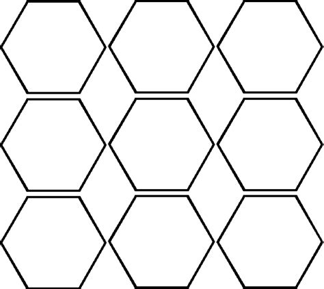 hexagon pattern name hexagon cliparts co