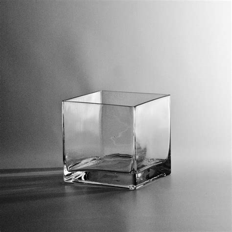 5 quot square glass cube vase discount miniature vases