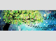 Musical Symbol Tree facebook Cover for Timeline Unique Girly Backgrounds