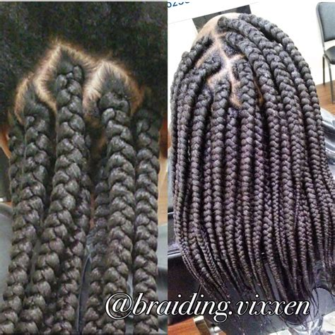 Large Box Braids Hairstyles by Large Box Braids Pinteres