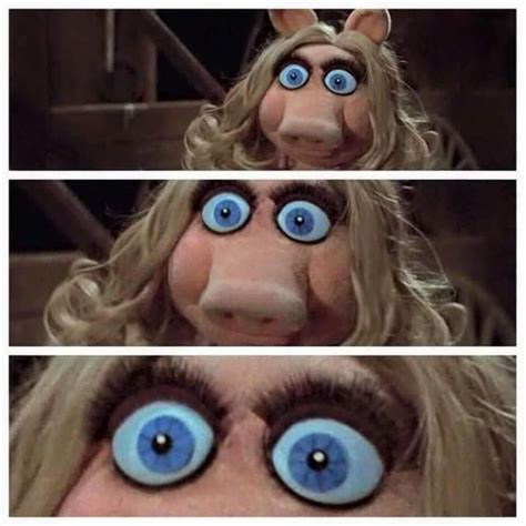 miss piggy eyes shock confusion zoom in realization