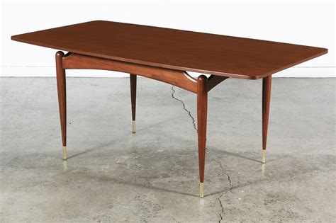 mid century table mid century floating top walnut dining table vintage