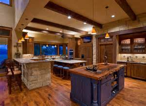 Mountain Ranch House Plans Ranch Rustic Kitchen Austin By Linda Mccalla Interiors