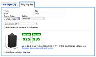 United Check Bag Cost baggage allowance on international flights
