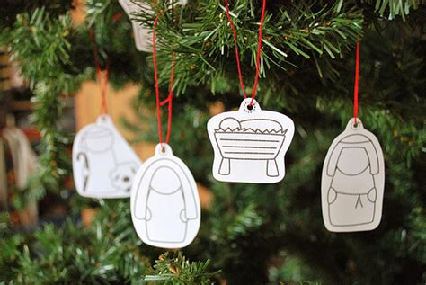 printable nativity ornaments 33 nativity crafts for christmas do small things with