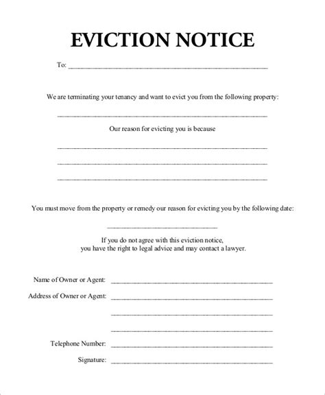 printable eviction notice missouri printable 30 day eviction notice pertamini co