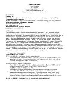 sample resume for net developer with 4 year experience