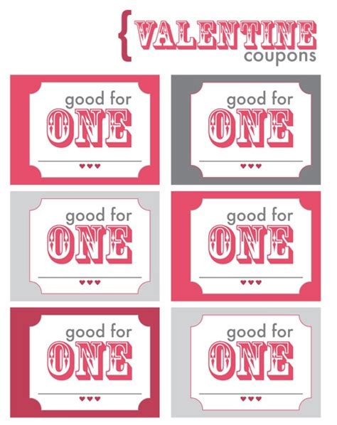 coupons for him template coupon pocket book printable by