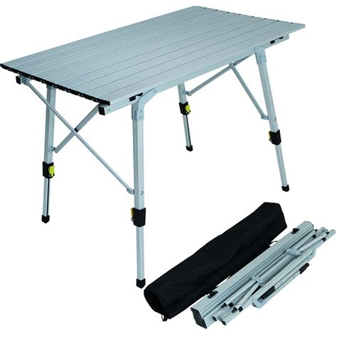adjustable aluminium lightweight slatted folding table