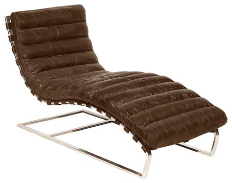 Chaise Lounge Indoor Leather Oviedo Leather Chaise Lounge Contemporary Indoor Chaise Lounge Chairs By Advanced Interior