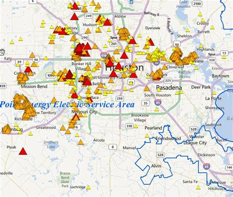 vectren power outage map check for power outages in the houston area houston