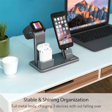 Stand Apple Iwacth yofew aluminum apple iwatch stand 4 in 1 charging stand