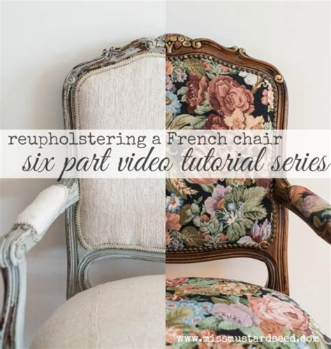 Upholstery Tutorial Chair - reupholstering a chair part 6 applying the trim