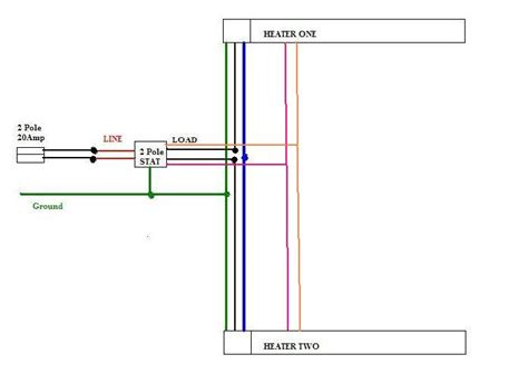 installing two baseboard heaters to one thermostat electric water heater thermostat wiring diagram electric