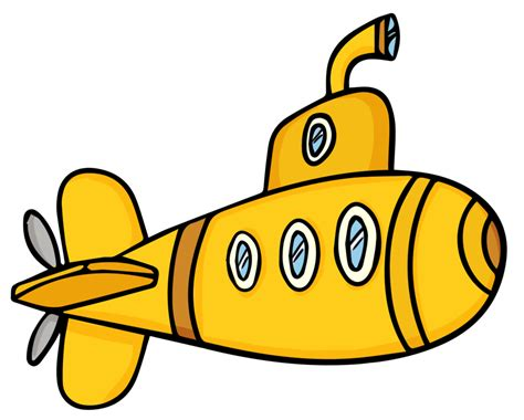 cartoon yellow boat cartoon clipart submarine pencil and in color cartoon